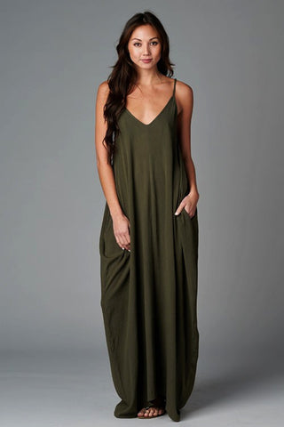 ENDLESS SUMMER DRESS- olive