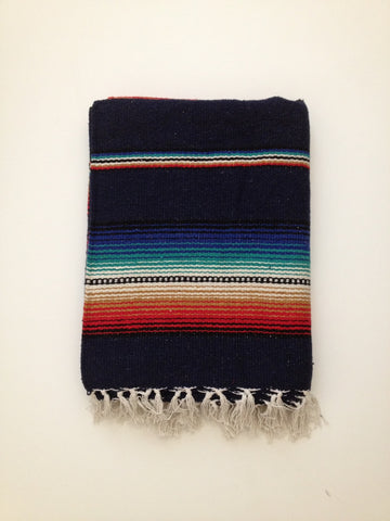 FREEBIRD FIESTA BLANKET- navy