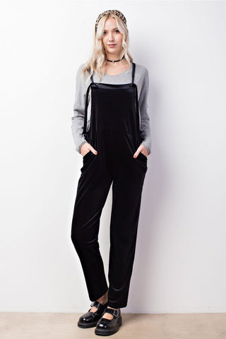 MIDNIGHT VELVET OVERALLS