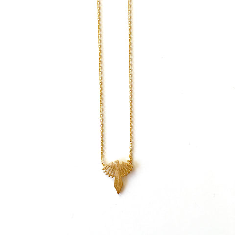 BIRD NECKLACE-GOLD