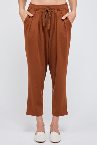 SHERONA TROUSERS- dark camel