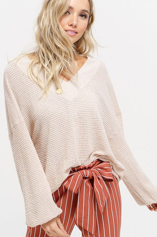 READY FOR THE WEEKEND PULLOVER-  natural