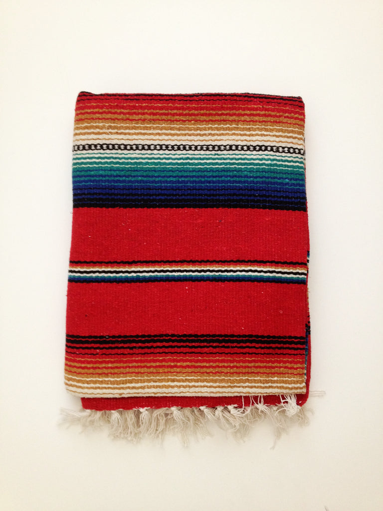 FREEBIRD FIESTA BLANKET- red