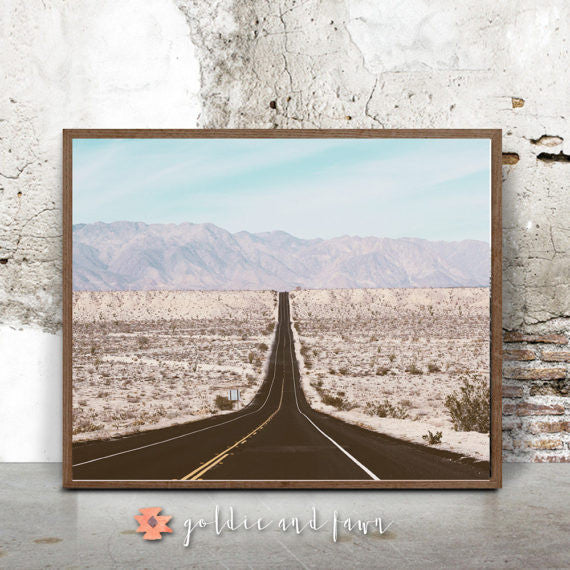 DESERT ROAD PRINT by: goldie&fawn