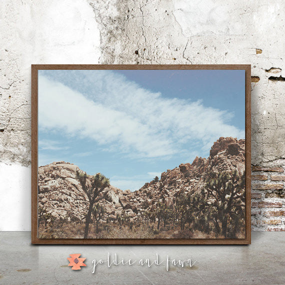 JOSHUA TREE LANDSCAPE PRINT by: goldie&fawn