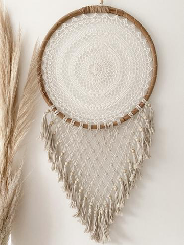 RATTAN DREAM CATCHER WITH TASSELS