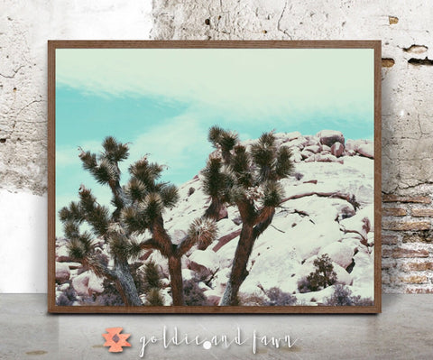 JOSHUA TREE PRINT-blue by: goldie&fawn