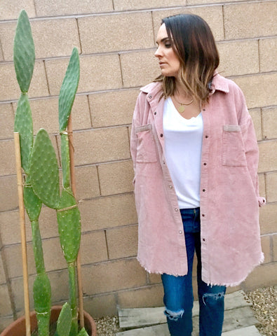 DUSTY ROSE CORDUROY JACKET