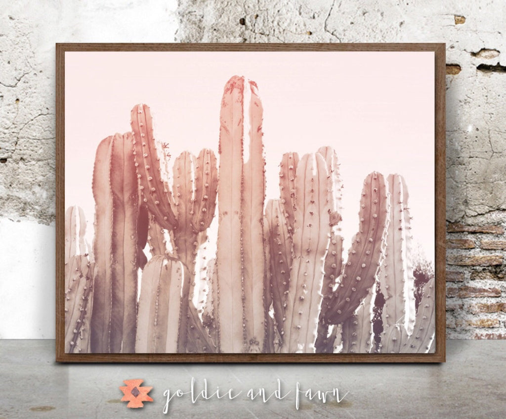 CACTUS PRINT #1 -pink by: goldie&fawn