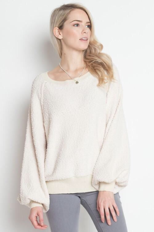 CARLISLE SWEATER- ivory