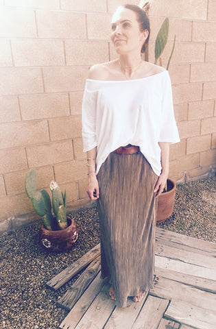 INTO THE GROOVE MAXI SKIRT