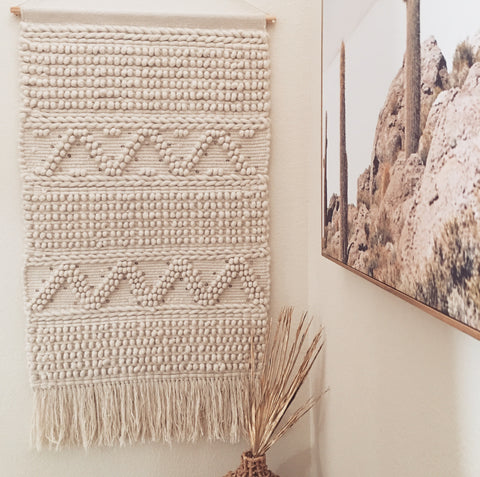 LARGE HANDWOVEN WALL HANGING
