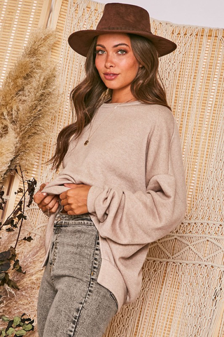 SAND OVERSIZED PULLOVER