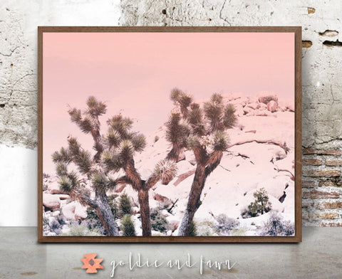 JOSHUA TREE PRINT-pink by: goldie&fawn