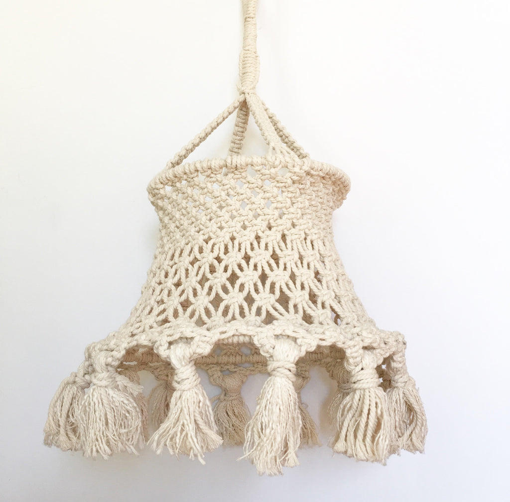 MACRAME PENDANT LIGHT SHADE