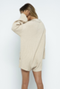 RIBBED KNIT SWEATER ONESIE