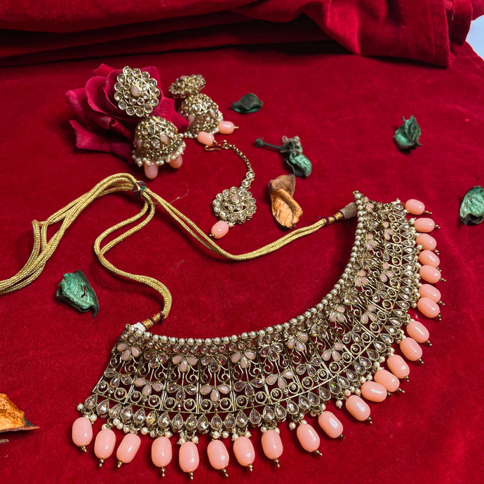 peach-polki-kundan-necklace-set
