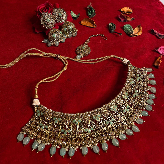 mint-polki-kundan-necklace-set