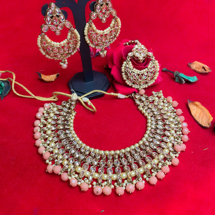 pink-polki-kundan-necklace-set