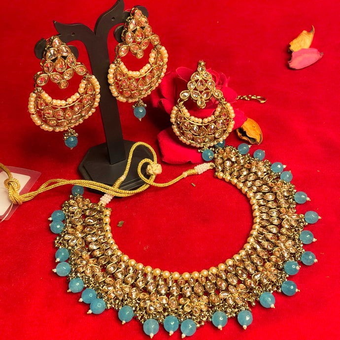 blue-polki-kundan-necklace-set
