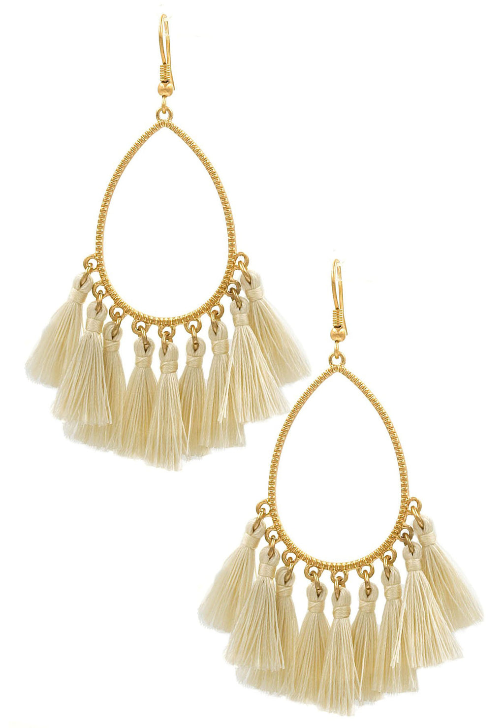 Tori Tassel Earrings - Natural