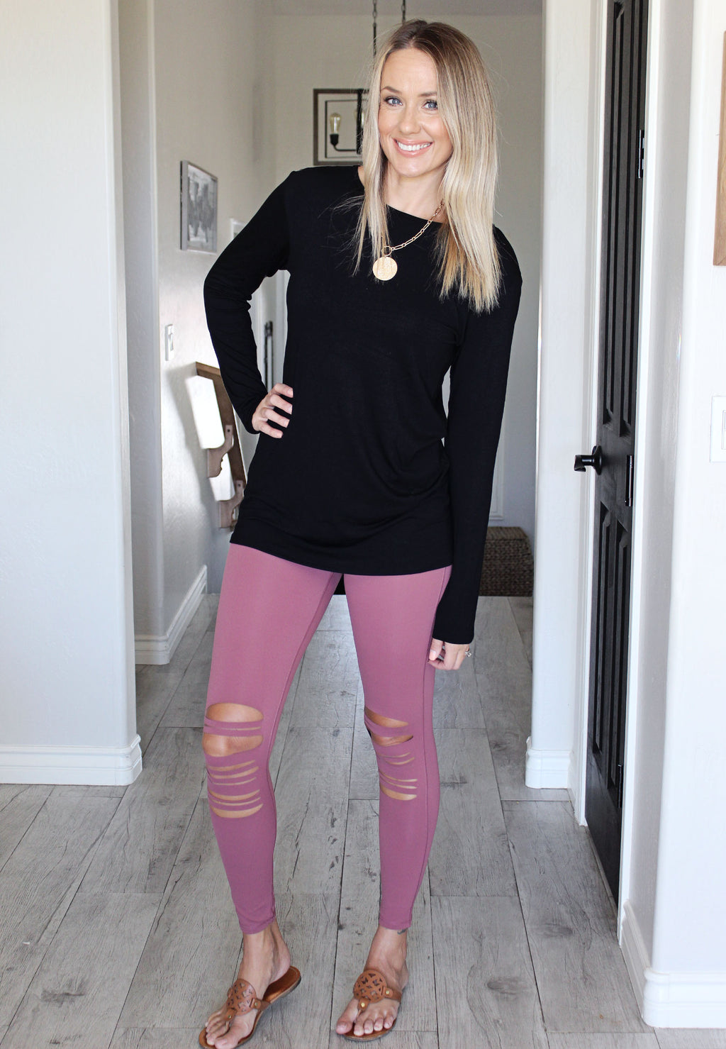 Leslie Leggings - Mauve