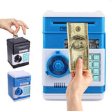 New Children Electronic Piggy Bank Safe Money Box For Digital Coins Cash Saving Safe Deposit ATM Machine Birthday Gift For Kids