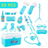 22-44 Pcs/Sets Girls Role Play Doctor Classic Medicine Simulation Pretend Play Medical Clothing Toy For Children Gift