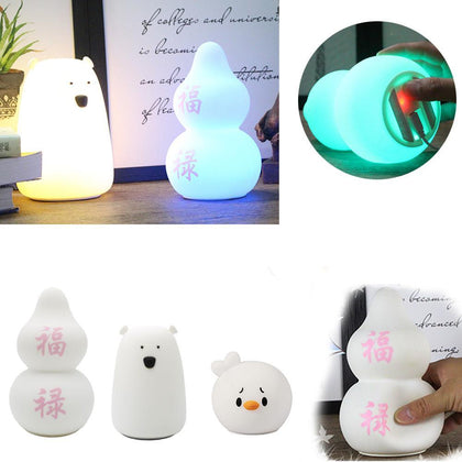 Creative Squishy Light Animal Toy Soft Squezee Vibration Touch Sensor USB LED Toy Led Light Toy Baby Funny Night Light Up Toy