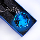 Custom K9 Crystal Key Chain Personalized Photo Pendant Picture Key Ring Trinket Laser Engraved LED Light Keychain Unique Gift