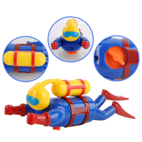 Bathtub Diver Toy Swimmers Scuba Diver Toys Wind Up Clockwork Sea Baby Bath Toy Simulation Sea Diver for Bathing Baby