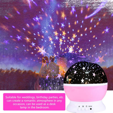 Novelty romantic luminous toys starry sky LED night light projector battery USB Night Light creative birthday toys for children
