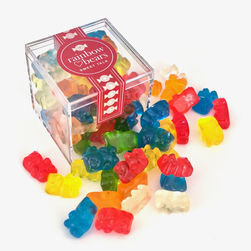 Rainbow Gummies Candy Cube Jar
