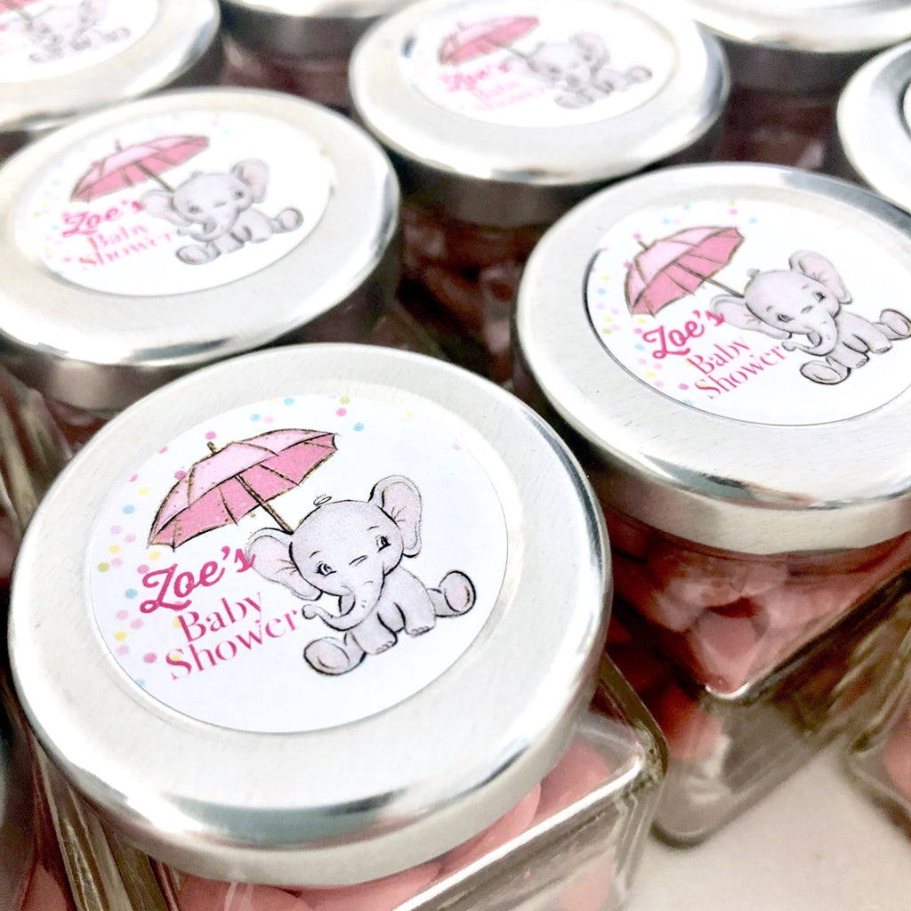 Baby Elephant themed Baby Shower Candy Jar