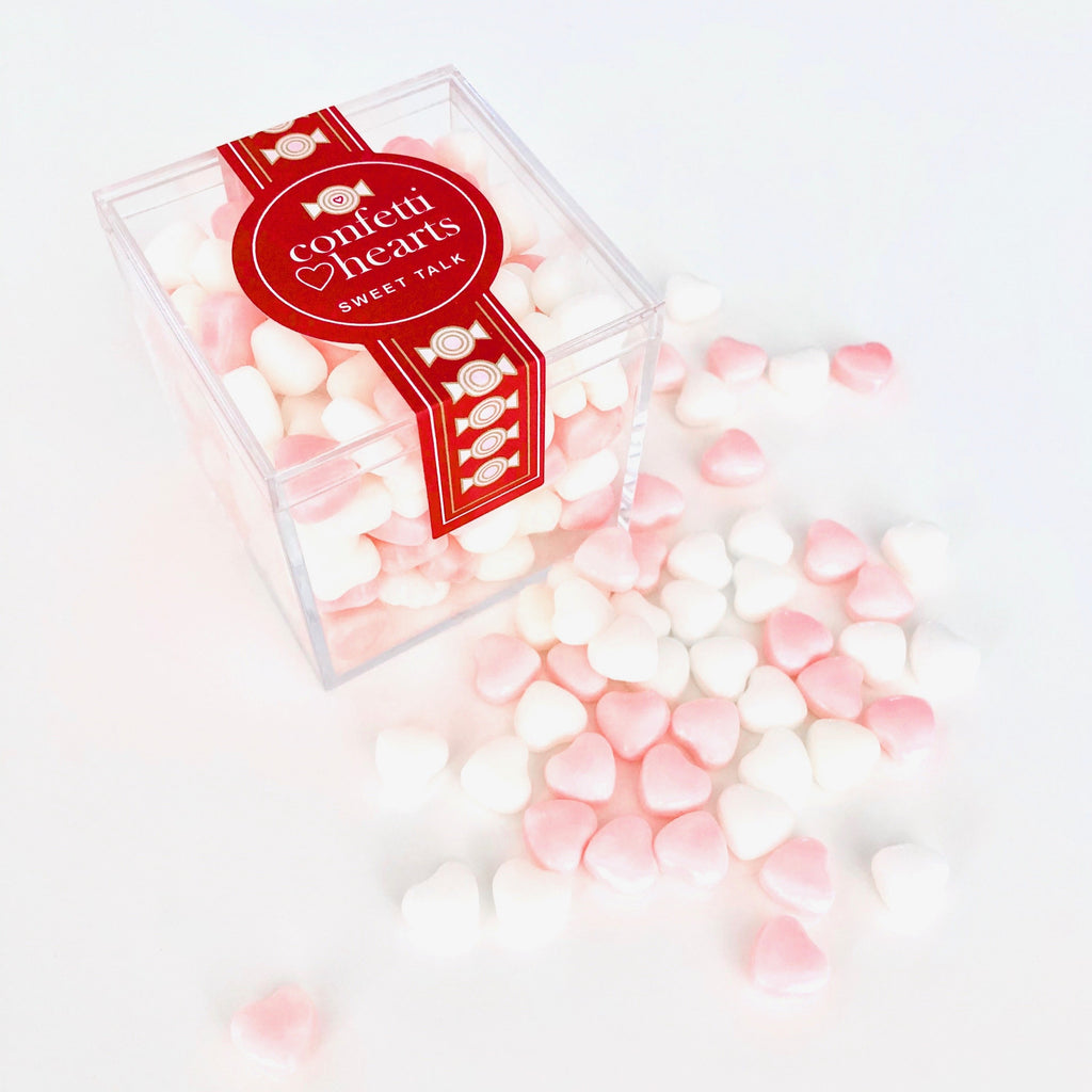 Confetti Hearts Crystal Candy Box
