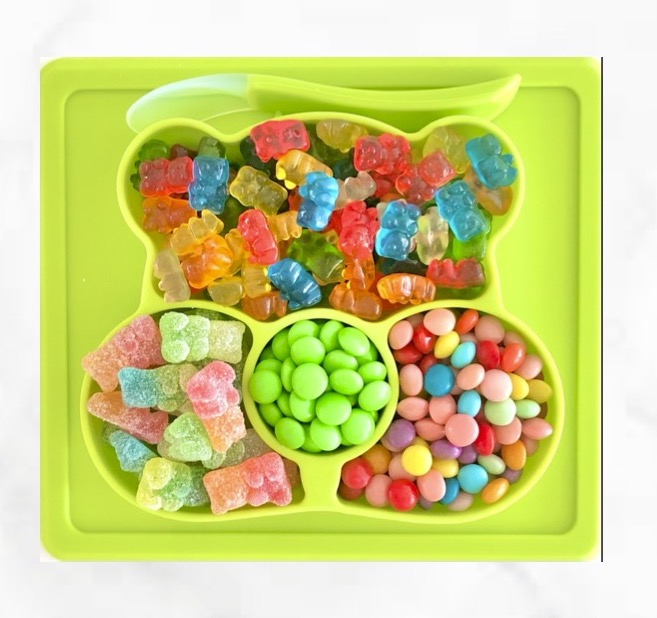 Sugar Bear Candy Plate - LIME GREEN - INCLUDES FREE SHIPPING!