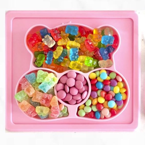 Sugar Bear Candy Plate - COTTON CANDY PINK - INCLUDES FREE SHIPPING!