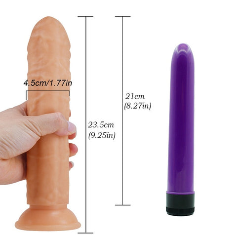 "Beginner's 8"" Suction Dildo"