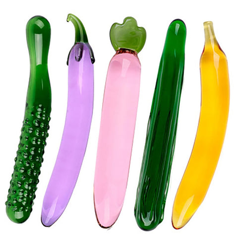 Fruit and Vegetable Glass Dildos