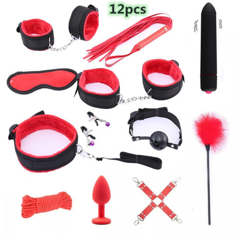 25 Piece Beginner's Bondage Sex Set