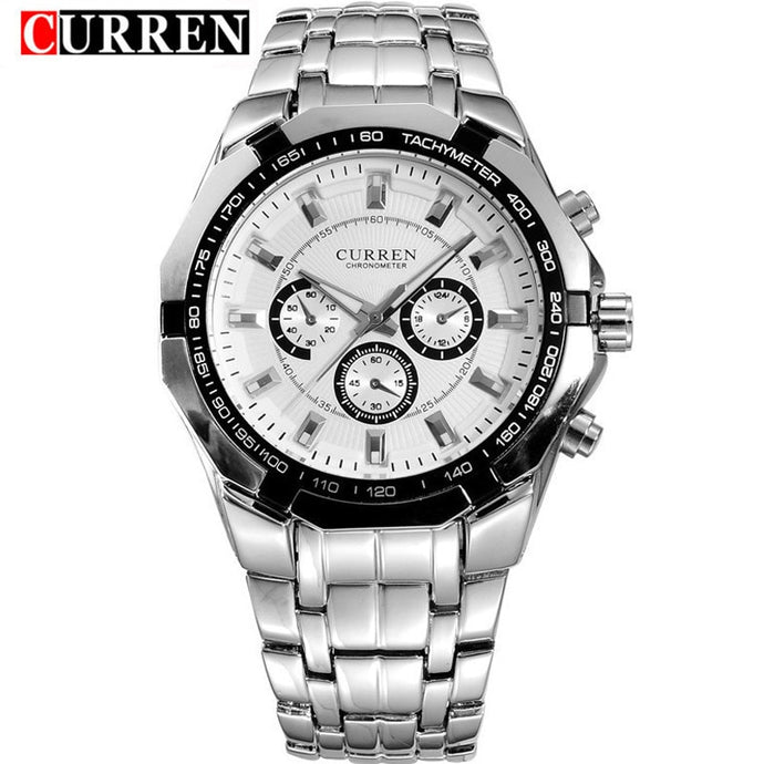 Waterproof Quartz Watches Mens CURREN Fashion Stainless Steel Wristwatch Casual Sport Watch Male Clock Montre Homme Relogios