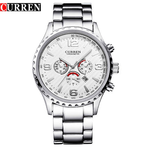 Hot Sell Curren Men Watches Relogio Masculino Fashion Montre Homme Reloj Hombre Quartz-Watch Male Watch Full Steel Wristwatches