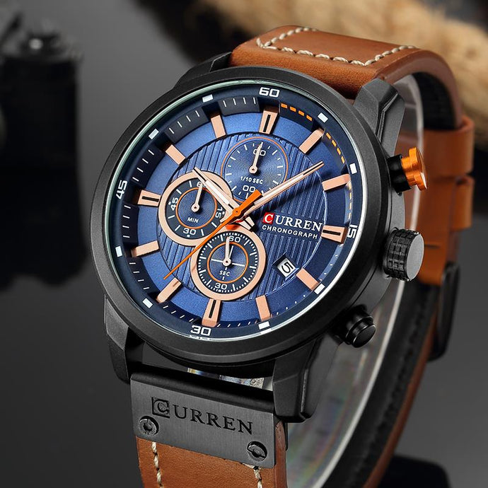 Top Brand Luxury CURREN 8291 Fashion Leather Strap Quartz Men Watches Casual Date Business Male Wristwatches Clock Montre Homme