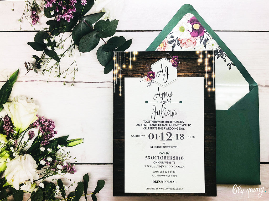 Amy Printed Invitation Suite