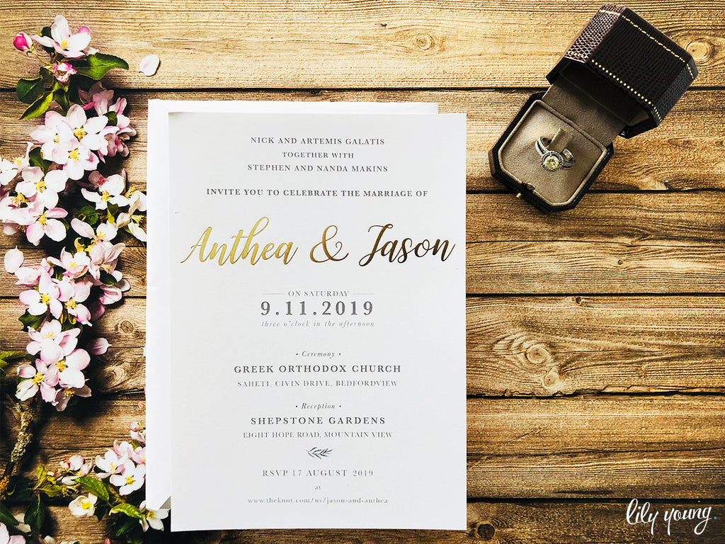 Anthea Printed Invitation Suite