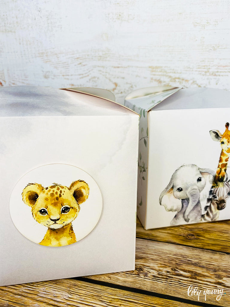 Baby Wild Animals Box - Pack of 12
