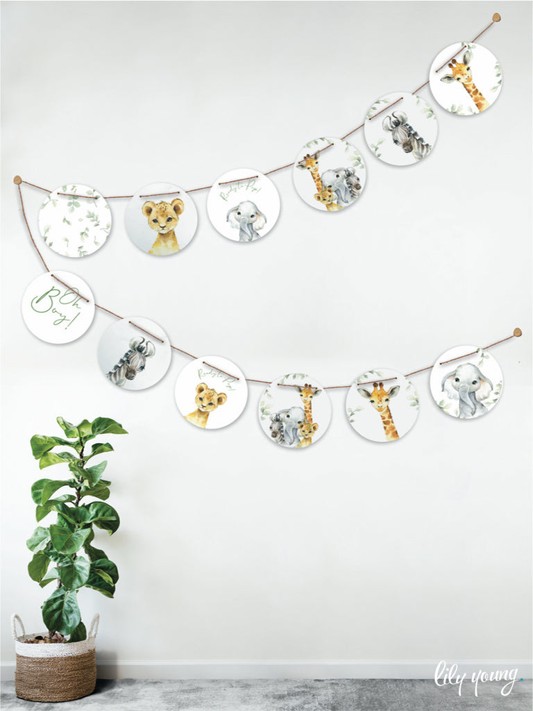 Baby Animals Bunting - Pack of 1