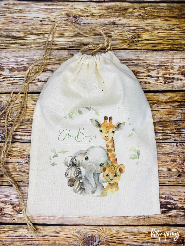 Baby Animals Draw string Bags - Pack of 12