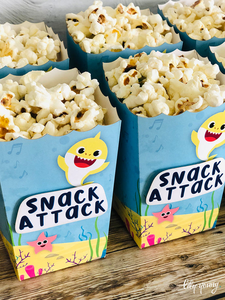 Baby Shark Popcorn boxes - Pack of 12