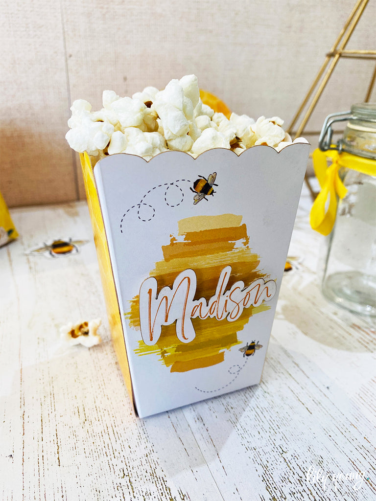 Bee Small Popcorn boxes - Pack of 12